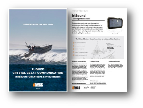 A brochure for the use of iriSound in vessels